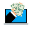 salary online transaction banknote financial from vector image vector image
