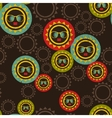 Seamless pattern with sun and black woman face vector image vector image
