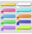 set color sticky notes with peel off corners vector image vector image