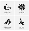 set of 4 editable kitchenware icons includes vector image vector image