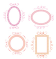 Set of cute hand-drawn empty retro frames vector image vector image