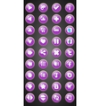 Set of round game buttons in cartoon style vector image vector image