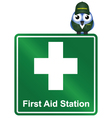 SIGN FIRST AID vector image vector image