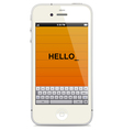 Smartphone with touch keyboard vector | Price: 3 Credits (USD $3)