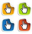 smooth cursor hand stickers vector image vector image