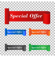 special offer sticker label on isolated background vector image vector image