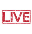 stamp text live vector image vector image
