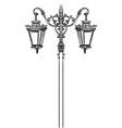 street lamp-4 vector image