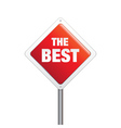 The Best Sign vector image vector image