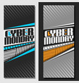 vertical banners for cyber monday vector image vector image