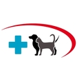 veterinary symbol with animal pet vector image vector image