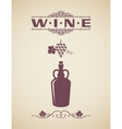 vintage wine label design background vector image vector image
