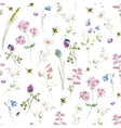 Watercolor wildflower pattern vector image vector image