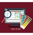 Web design development vector image vector image