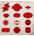 Red Christmas Labels Set on grunge Background vector image