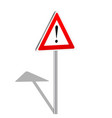 3d attention sign vector image vector image