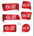 45 percent off red sticker collection