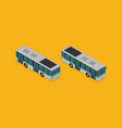 a flat isometric bus eps10 vector image