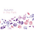 abstract geometry style autumn vector image