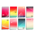 abstract line waves with colorful gradient vector image