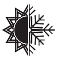 air conditioning icon - summer winter vector image