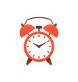 alarm clock in flat style vector image