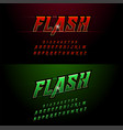 alphabet red and green metallic and effect vector image