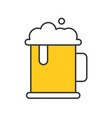 beer mug thin line icon gastronomy set vector image vector image