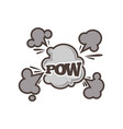 big boom with powerful sparkle and dust clouds vector image vector image