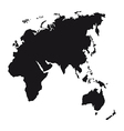 black silhouette europe asia africa and oceania
