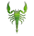 Bright scorpion zodiac Scorpio sign vector image
