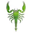 Bright scorpion zodiac Scorpio sign vector image vector image