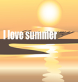 bright summer the background with the sun vector image vector image