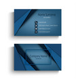 business card with design abstract blue triangles vector image vector image