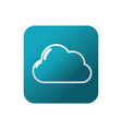 button cloud natural weather in the sky design vector image vector image