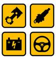 car part symbols vector image vector image