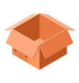 cardboard box icon isometric style vector image vector image