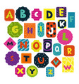 children alphabet set vector image
