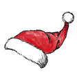 christmas hat1 vector image vector image