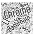 chrome bathroom accessories Word Cloud Concept vector image vector image