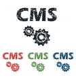 CMS settings grunge icon set vector image vector image