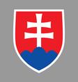 coat arms slovakia vector image