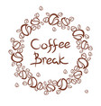 coffee break frame vector image