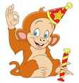 cute funny xmas monkey vector image