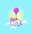 cute little unicorn background vector image vector image