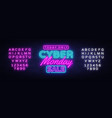 cyber monday banner in fashionable neon style vector image vector image