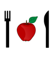 eating apple vector image vector image