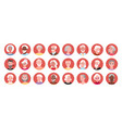 elderly people round portrait avatar set happy vector image