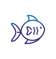 fish marine life thick line blue vector image vector image