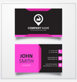 Fitness place with pin icon business card template